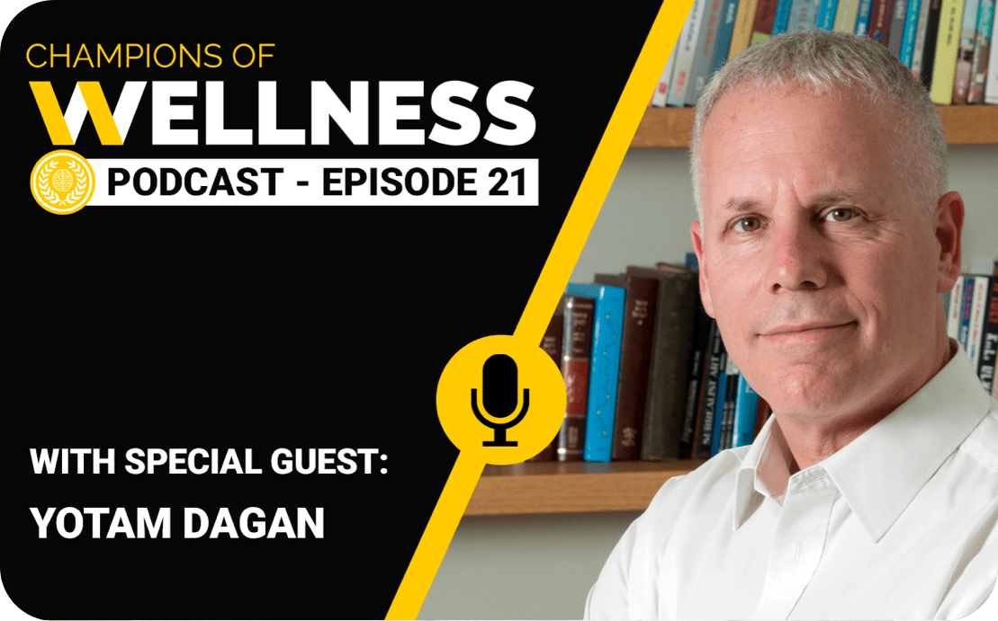 Dugri Co-Founder, Yotam Dagan, discusses ways to harness stress to promote wellness on the Champions of Wellness podcast